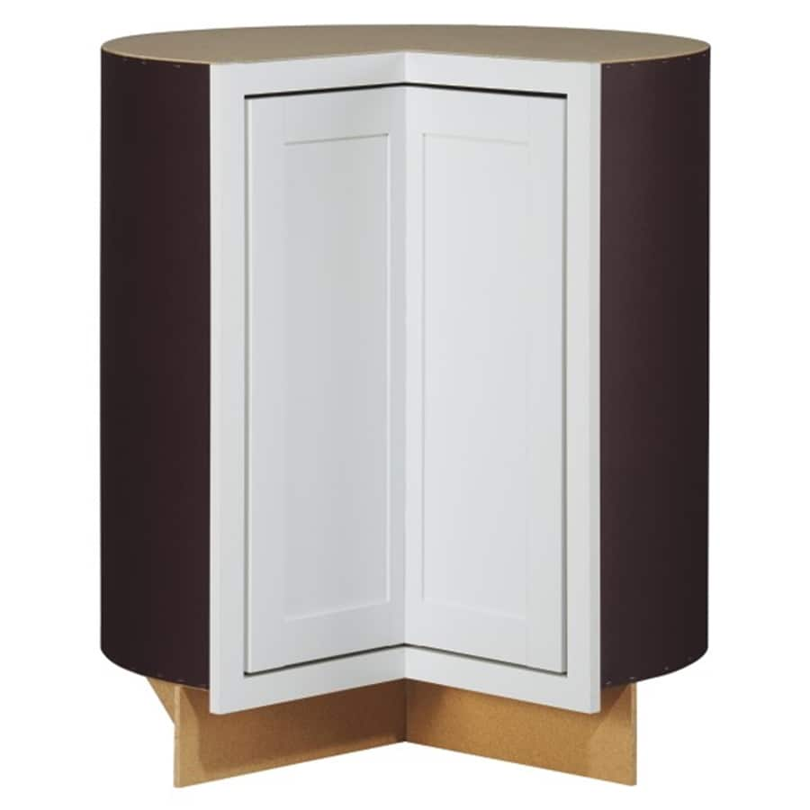 Kitchen Classics Arcadia 36-in W x 35-in H x 23.75-in D White Lazy Susan Corner Base Cabinet
