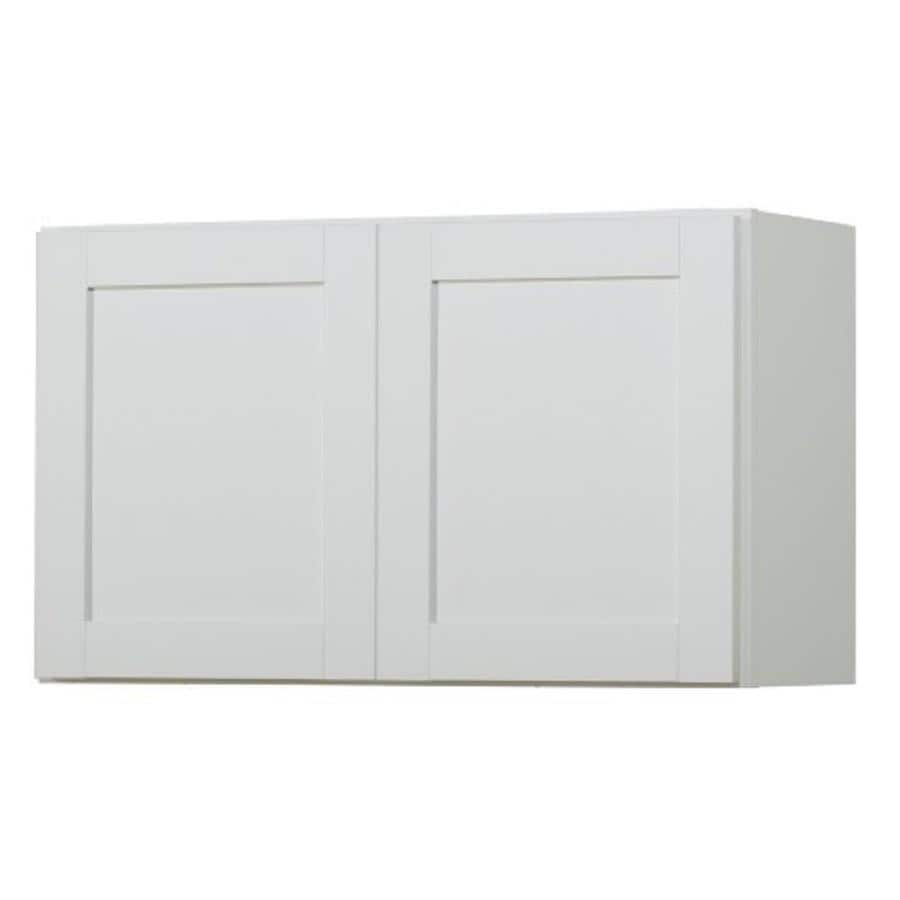 Kitchen Classics Arcadia 30-in W x 18-in H x 12-in D White Door Wall Cabinet