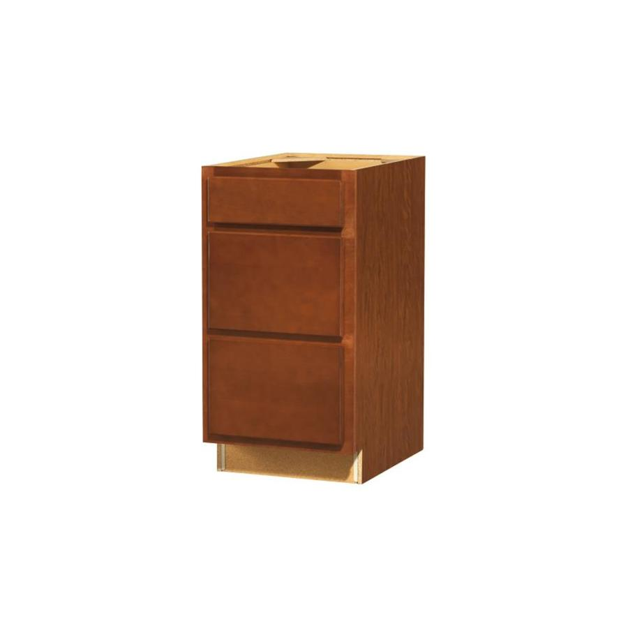 shop kitchen classics cheyenne 18 in w x 35 in h x d saddle drawer base cabinet at. Black Bedroom Furniture Sets. Home Design Ideas