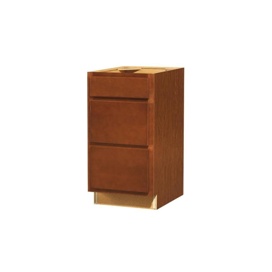 Kitchen Classics Cheyenne 18-in W x 35-in H x 23.75-in D Saddle Drawer Base Cabinet