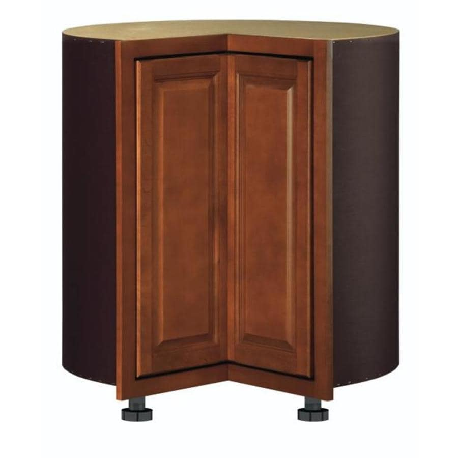 Kitchen Classics Cheyenne 36-in W x 35-in H x 23.75-in D Saddle Lazy Susan Corner Base Cabinet