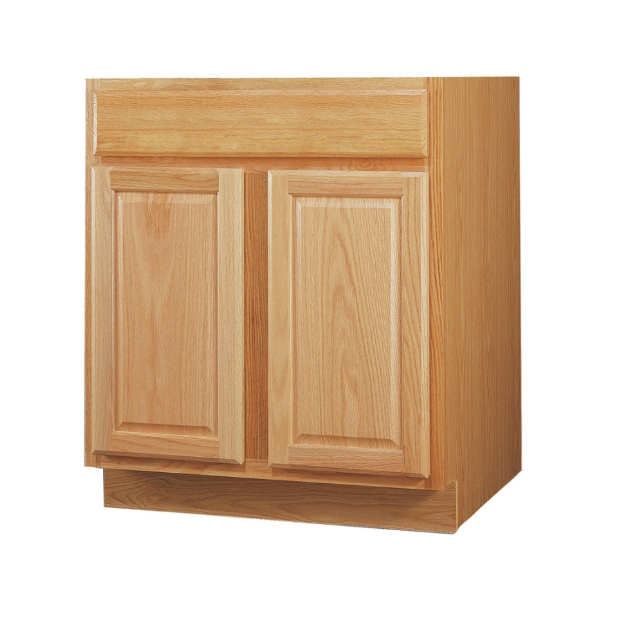 Kitchen Classics 34.5-in H x 30-in W x 24-in D Oak Door and Drawer Base Cabinet