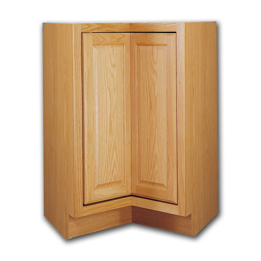 Kitchen Classics 34.5-in H x 36-in W x 24-in D Oak Lazy Susan Base Cabinet