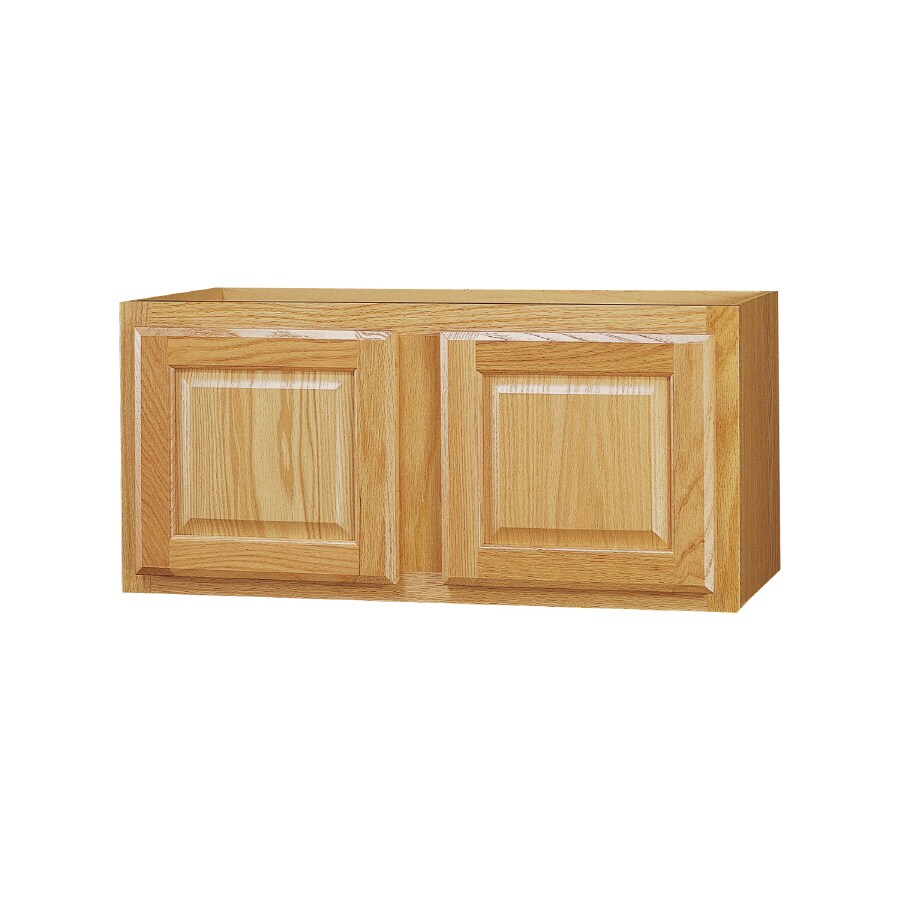 Kitchen Classics 18-in x 30-in x 12-in Oak Double Door Kitchen Wall Cabinet
