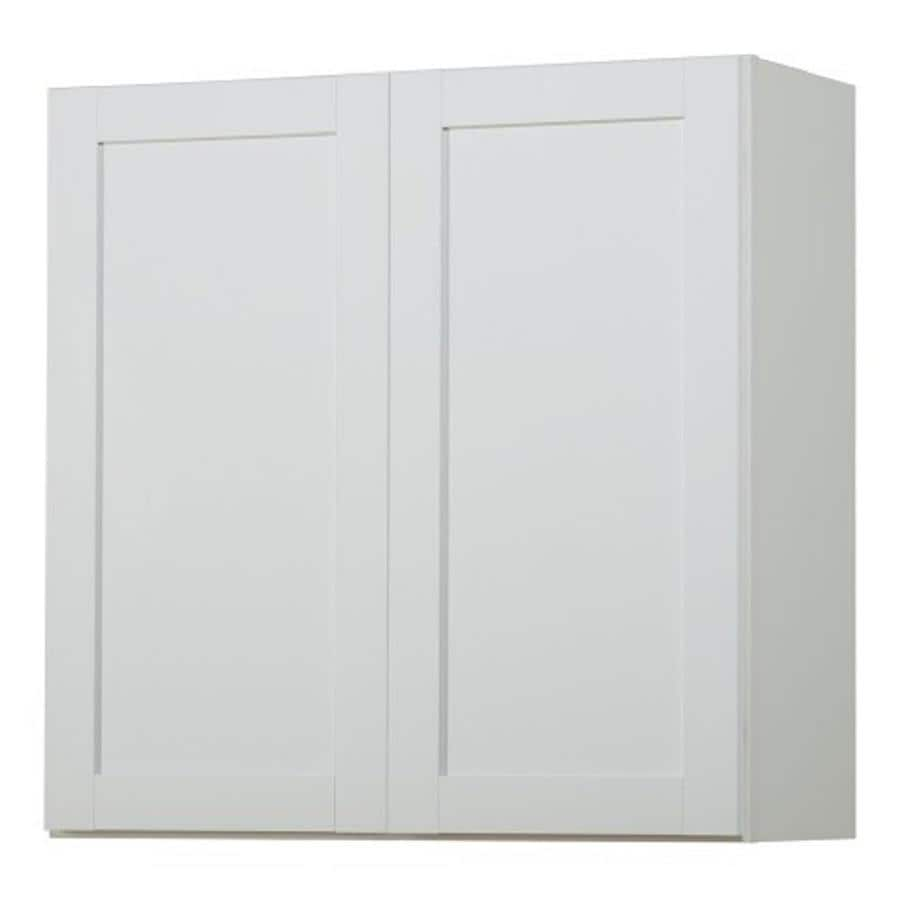 Kitchen Classics Arcadia 30-in W x 30-in H x 12-in D White Door Wall Cabinet