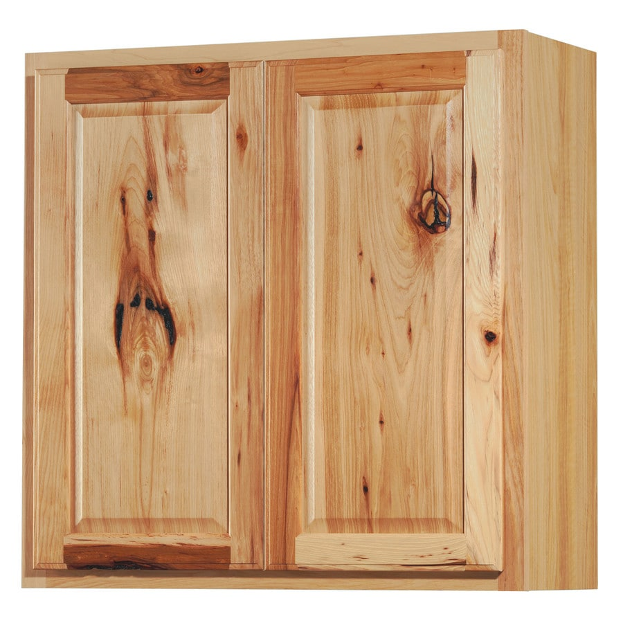Kitchen Classics 30-in x 30-in x 12-in Denver Hickory Double Door Kitchen Wall Cabinet