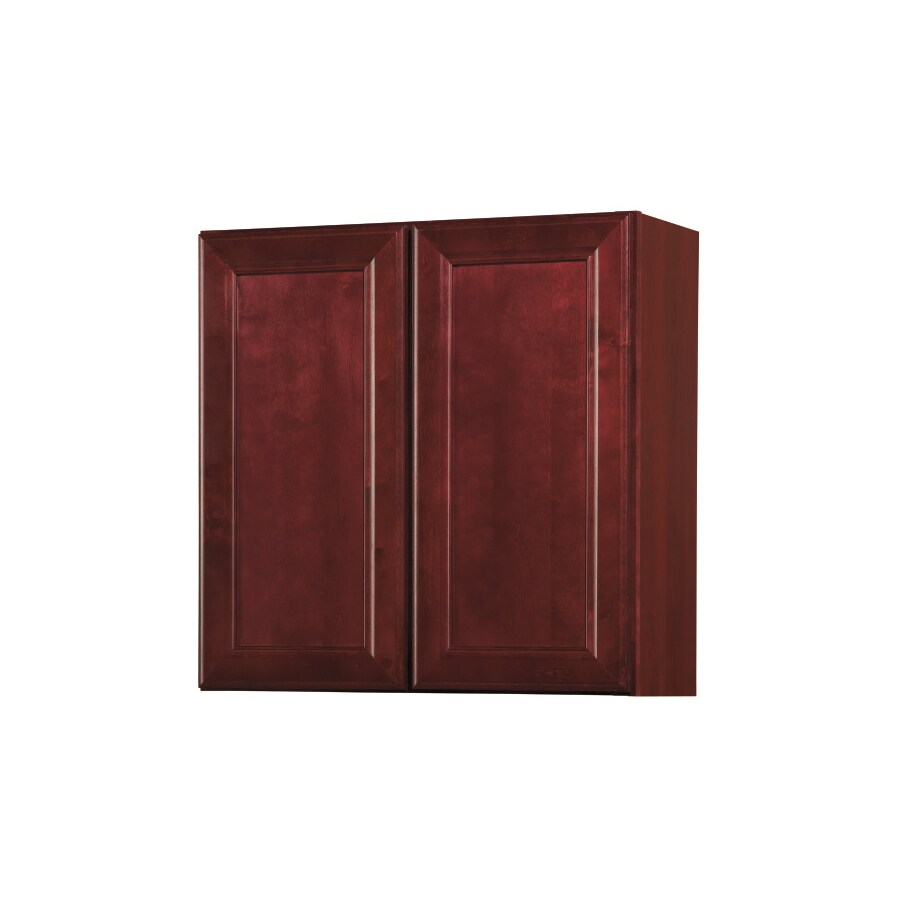 in h x 30 in w x 12 in d merlot double door wall cabinet at