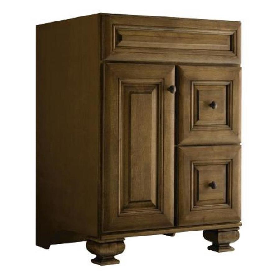 Diamond Fresh Fit Ballantyne Mocha with Ebony Glaze Traditional Bathroom Vanity (Common: 24-in x 21-in; Actual: 24-in x 21-in)