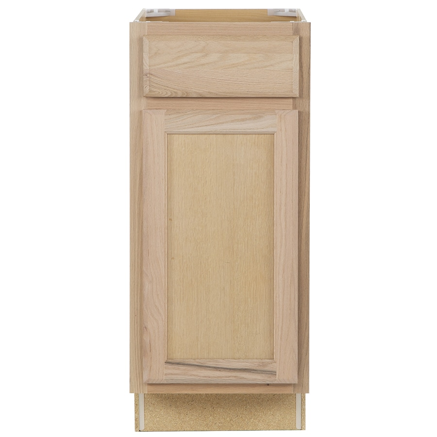 Kitchen Classics 15-in W x 35-in H x 23.75-in D Unfinished Door and Drawer Base Cabinet