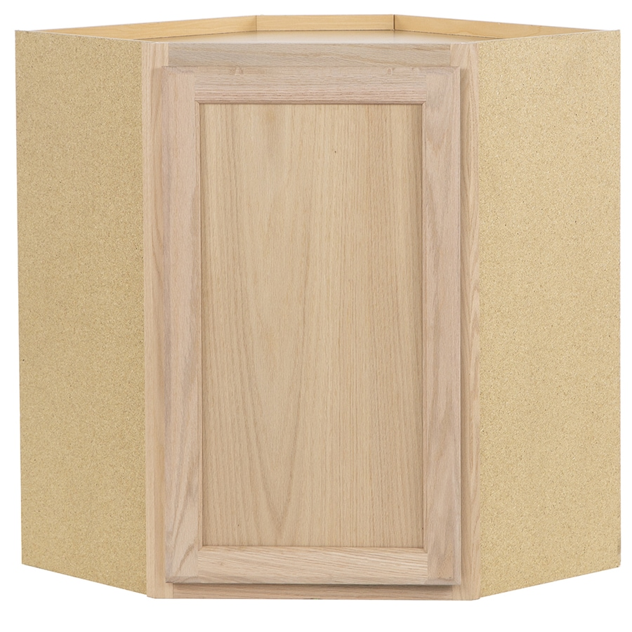 Kitchen Classics 24-in W x 30-in H x 12-in D Unfinished Corner Wall Cabinet
