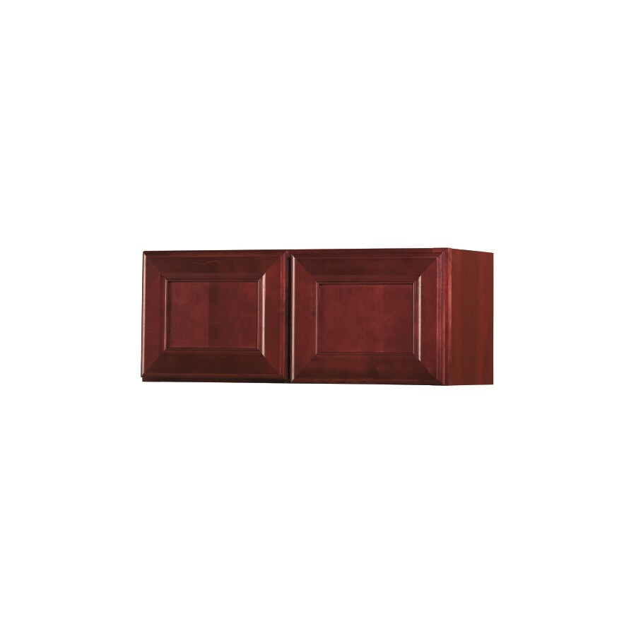 Shop kitchen classics 12 in h x 30 in w x 12 in d merlot for Kitchen cabinets 30 x 12