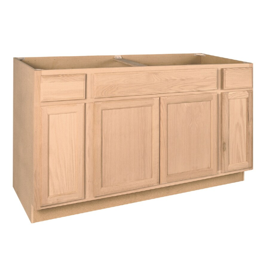 Project Source 3-in W x 3-in H x 3.3-in D Natural Unfinished Sink Base  Stock Cabinet