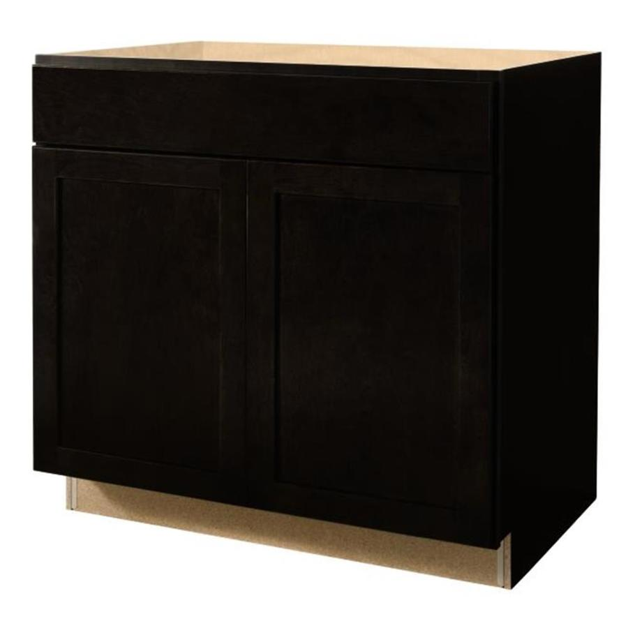 shop kitchen classics brookton 36 in w x 35 in h x d espresso sink base cabinet at. Black Bedroom Furniture Sets. Home Design Ideas