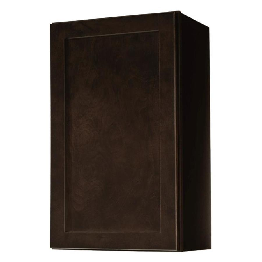 Kitchen Classics Brookton 18-in W x 30-in H x 12-in D Espresso Door Wall Cabinet