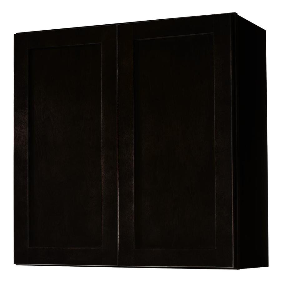 Kitchen Classics Brookton 30-in W x 30-in H x 12-in D Espresso Door Wall Cabinet