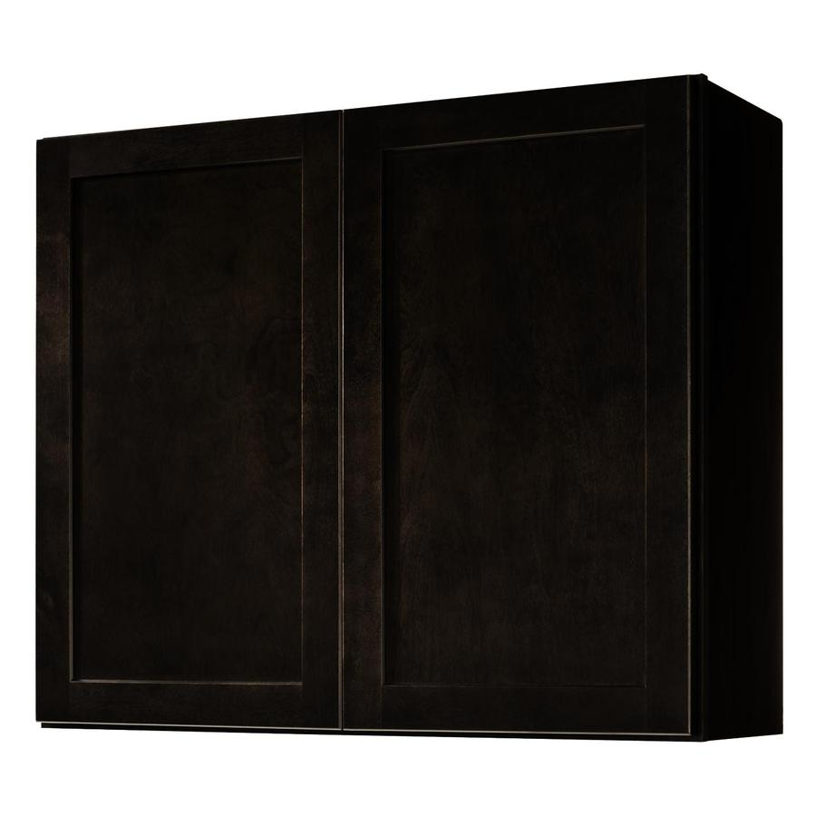 Kitchen Classics Brookton 36-in W x 30-in H x 12-in D Espresso Door Wall Cabinet