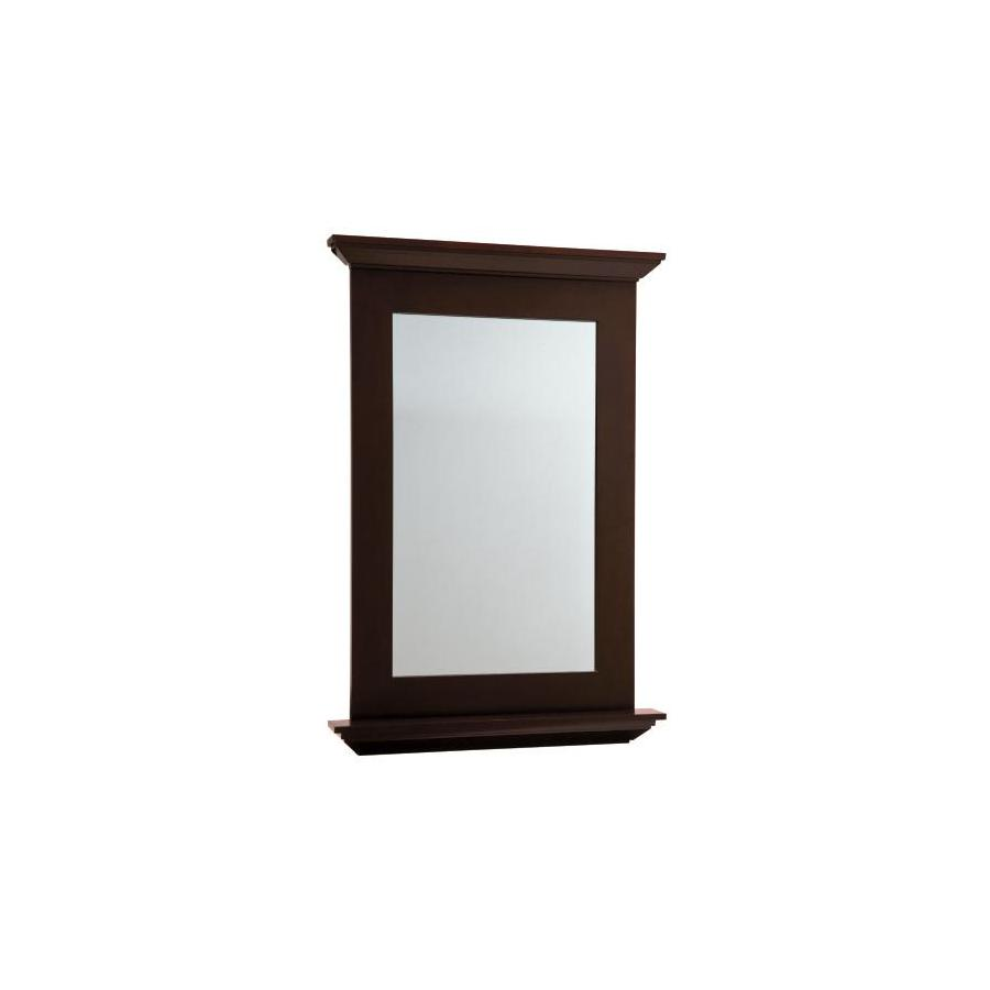 allen + roth Palencia 25-in W x 34-in H Espresso Rectangular Bathroom Mirror