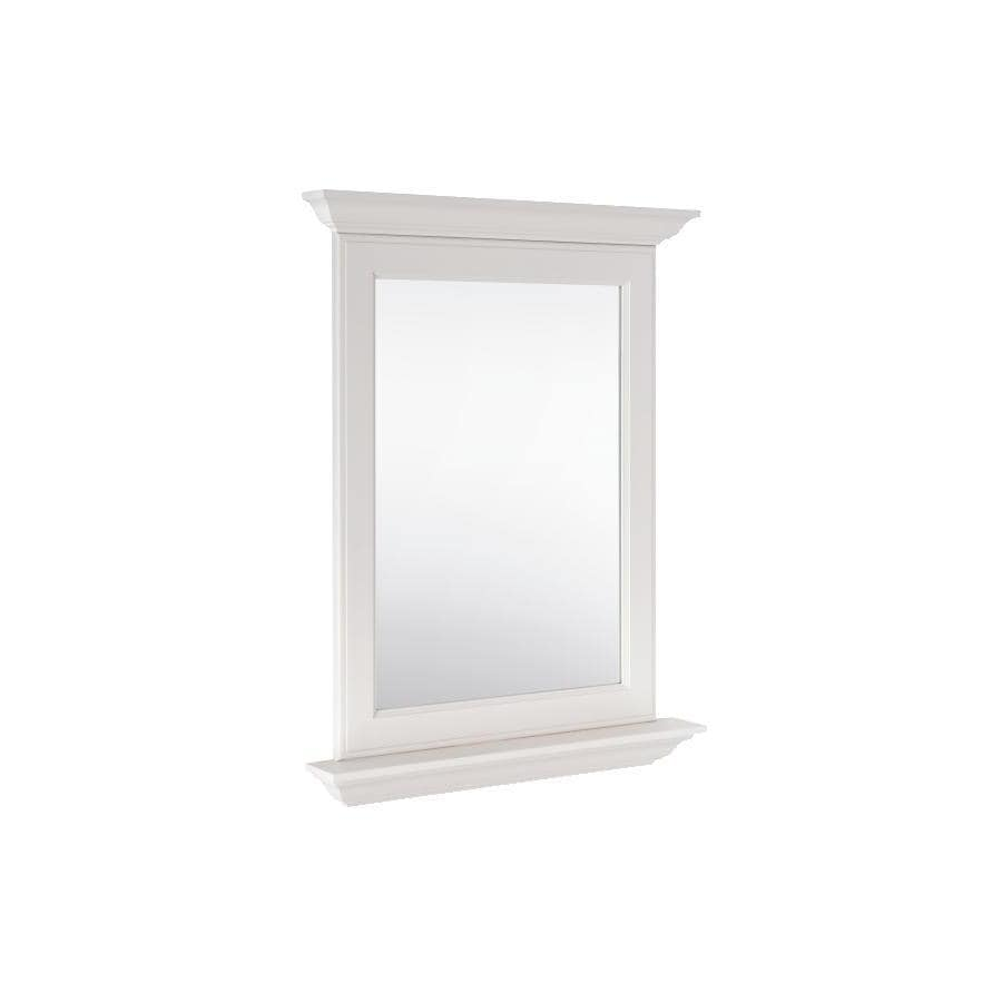 allen + roth Britwell 25-in W x 34-in H Cream Rectangular Bathroom Mirror