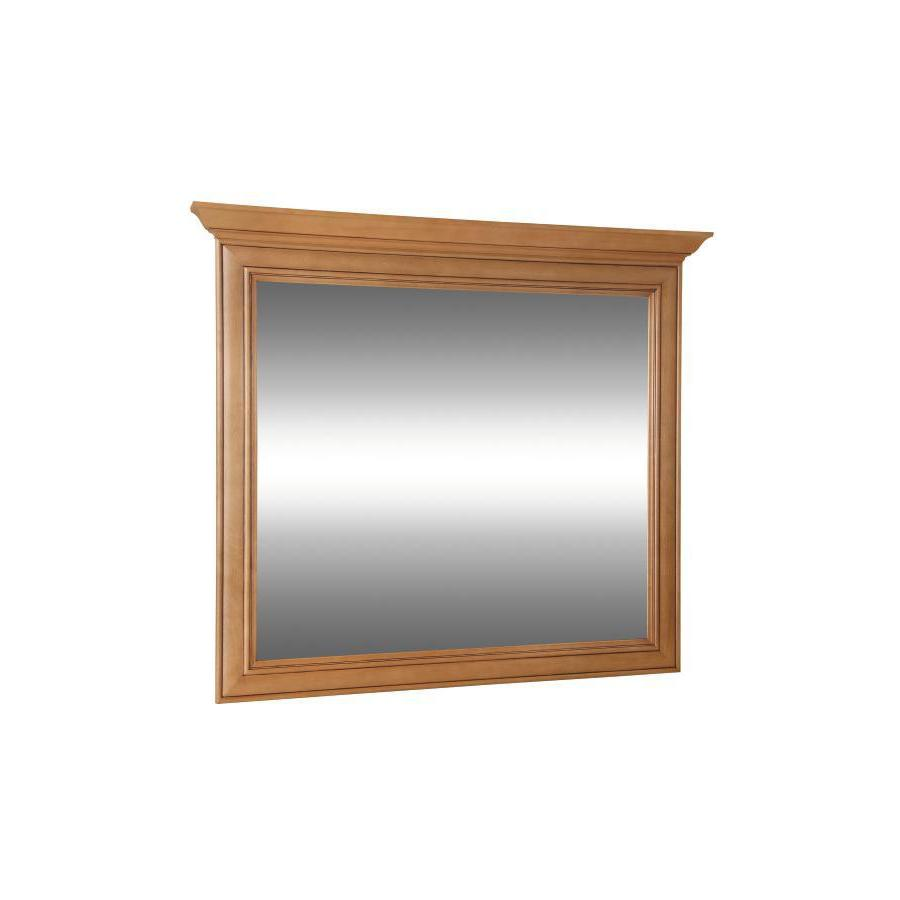 Style Selections Ryerson 42-in W x 34-in H Golden Rectangular Bathroom Mirror
