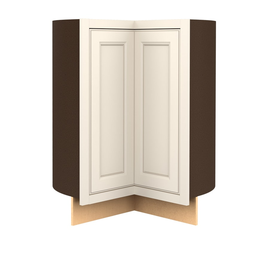Kitchen Classics Caspian 36-in W x 35-in H x 23.75-in D Toasted Antique Lazy Susan Corner Base Cabinet