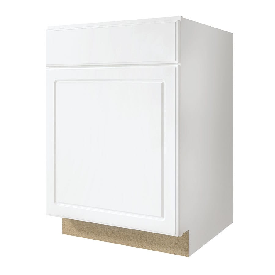 Kitchen Classics Concord 21-in W x 35-in H x 23.75-in D White Door and Drawer Base Cabinet