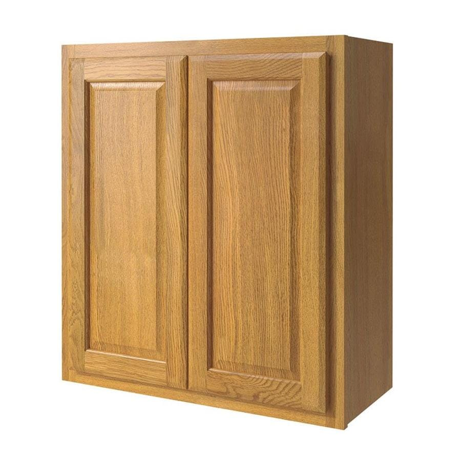 shop kitchen classics portland 27 in w x 30 in h x 12 in d wheat door wall cabinet at. Black Bedroom Furniture Sets. Home Design Ideas