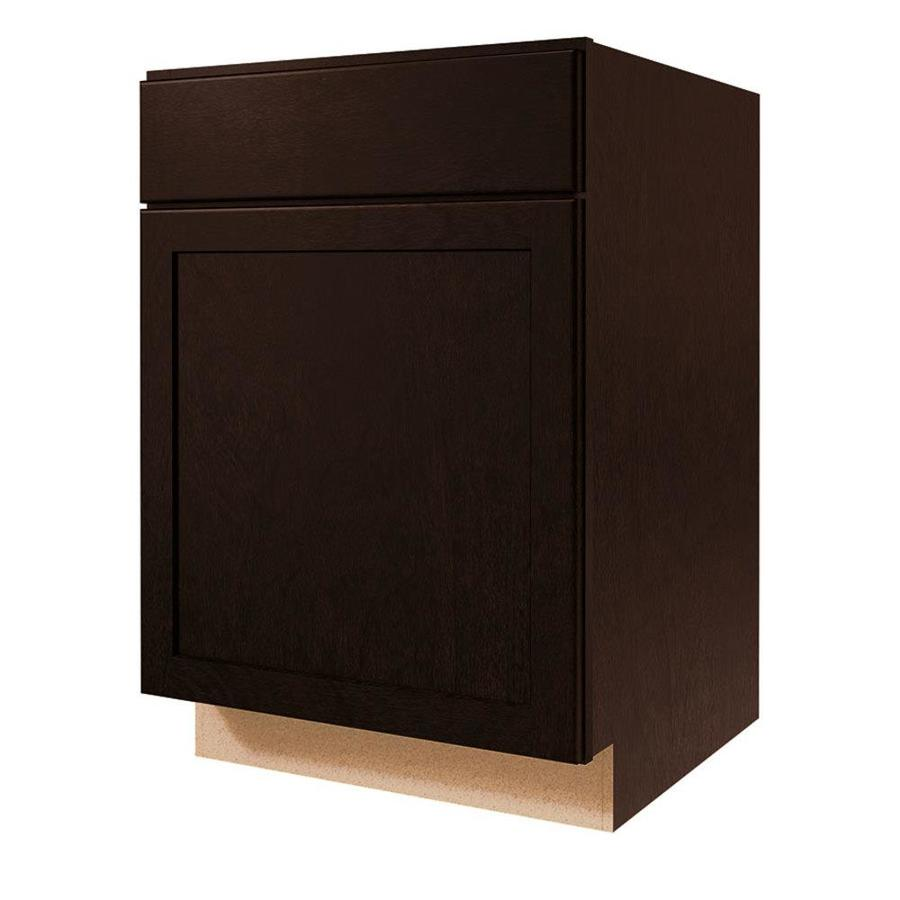 Kitchen Classics Brookton 21-in W x 35-in H x 23.75-in D Espresso Door and Drawer Base Cabinet