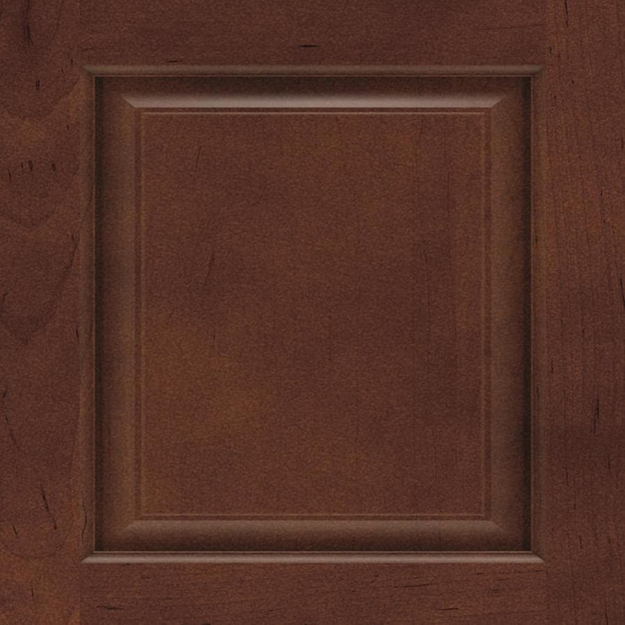 Diamond Woodhall 14.75-in x 14.75-in Henna Maple Square Cabinet Sample