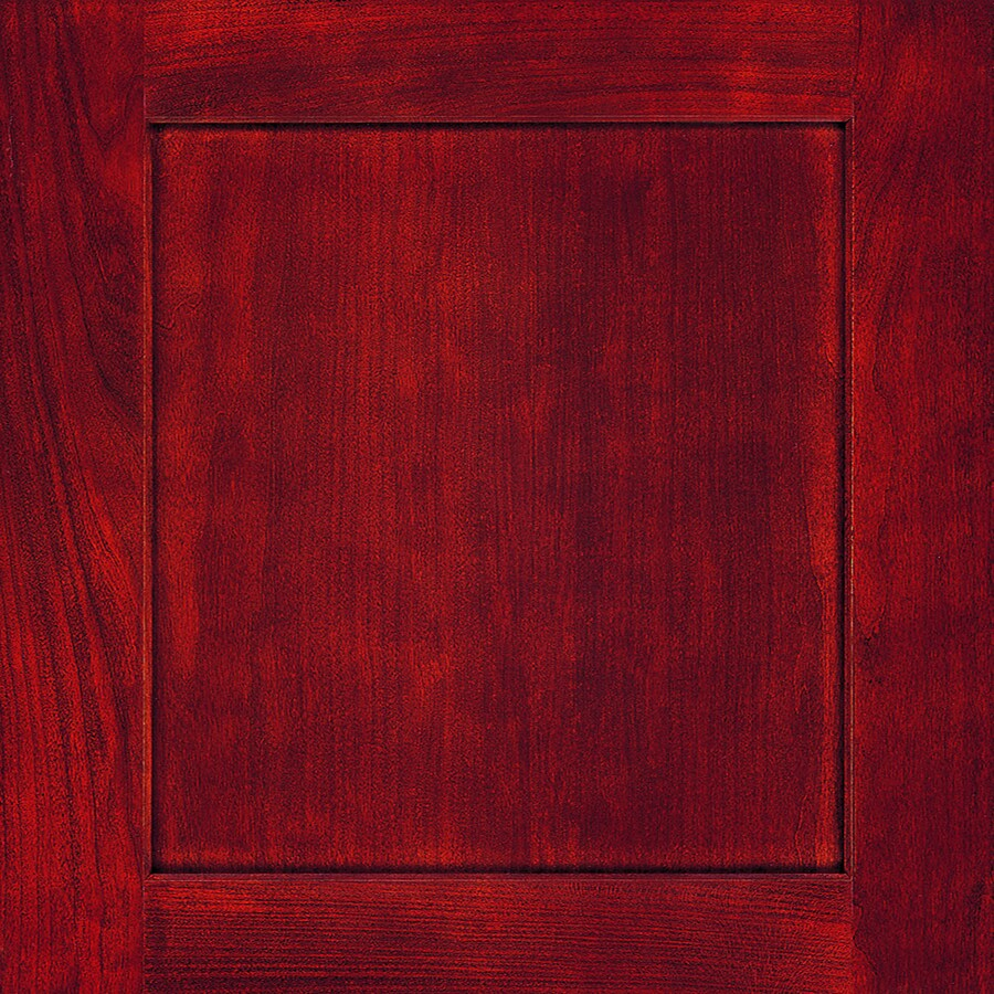 Diamond Jamestown 14.75-in x 14.75-in Cranberry Cherry Square Cabinet Sample