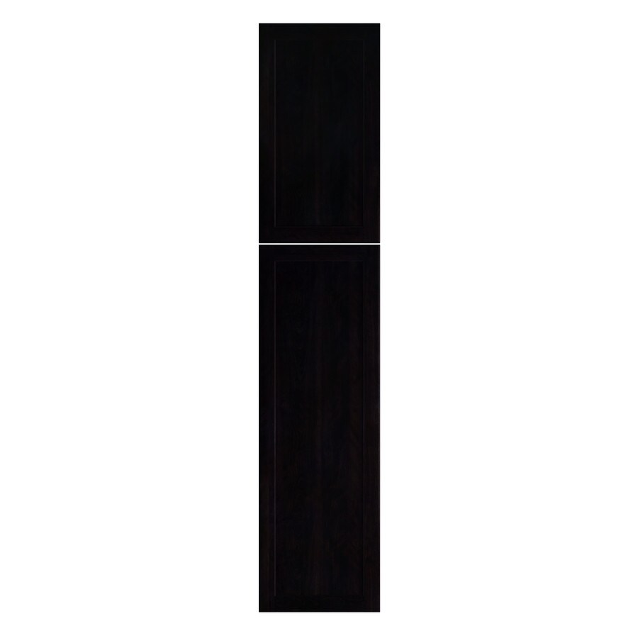 Nimble by Diamond Brownstone Beat 23.875-in W x 29.9062-in H x 0.75-in D Chocolate Shaker Pantry Cabinet