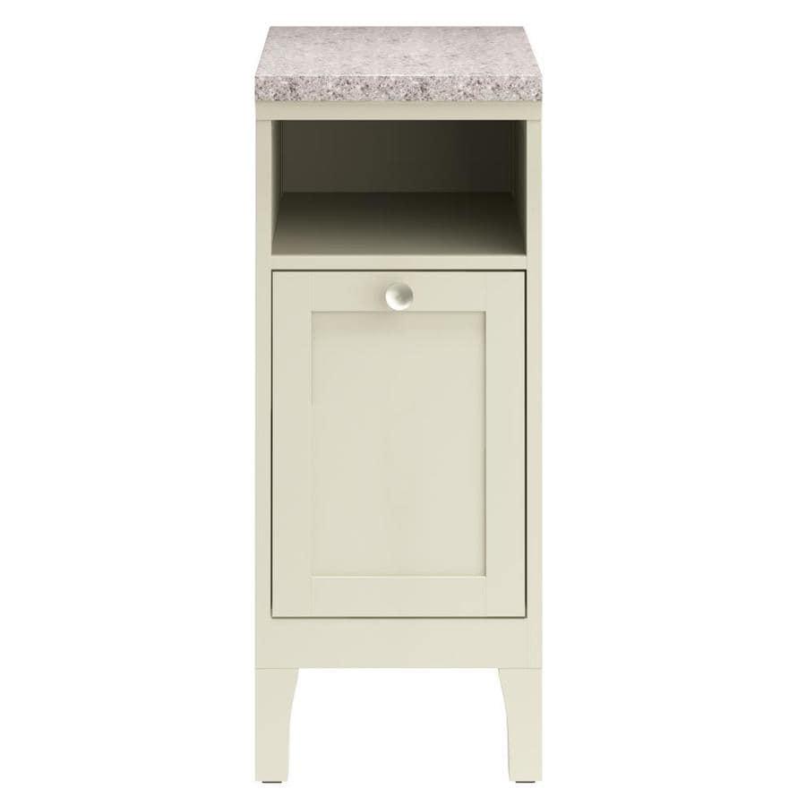 Shop allen roth brisette 13 in w x h x d cream mdf linen cabinet at - Allen roth bath cabinets ...