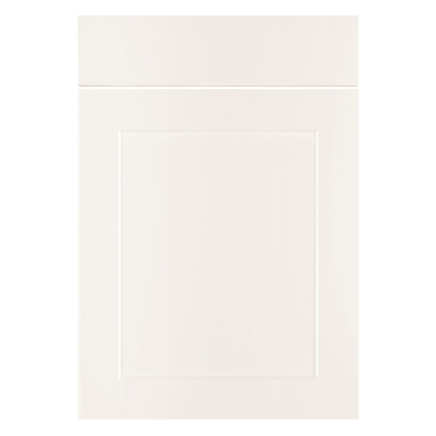 Nimble by Diamond Vanilla Shake 20.875-in W x 23.9062-in H x 0.75-in D White Laminate Shaker Door and Drawer Base Cabinet