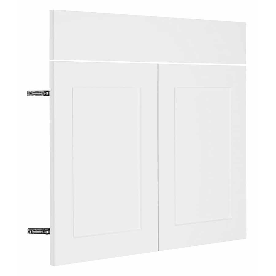 Nimble by Diamond Vanilla Shake 17.875-in W x 23.9062-in H x 0.75-in D White Shaker Door and Drawer Base Cabinet