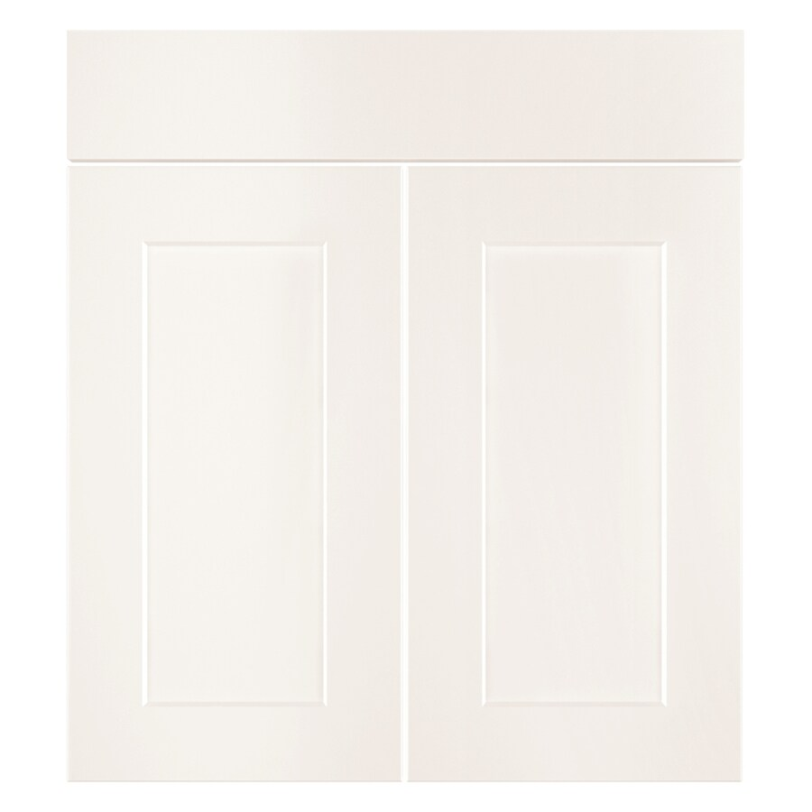 Nimble by Diamond Vanilla Shake 16.375-in W x 23.9062-in H x 0.75-in D White Laminate Shaker Sink Base Cabinet
