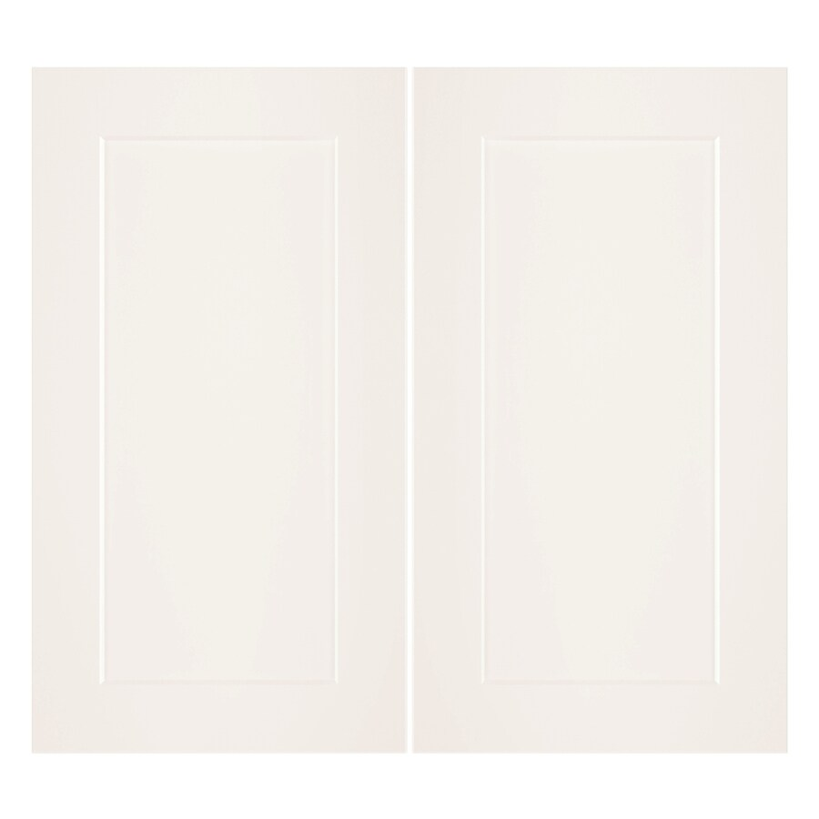 Nimble by Diamond Vanilla Shake 16.375-in W x 29.9062-in H x 0.75-in D White Laminate Shaker Door Wall Cabinet