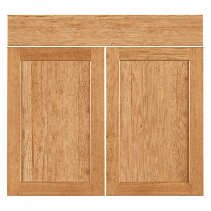Nimble by Diamond Copper Pot 16.375-in W x 23.9062-in H x 0.75-in D Honey Shaker Door and Drawer Base Cabinet
