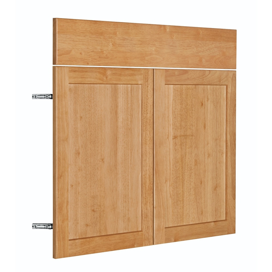 Nimble by Diamond Copper Pot 17.875-in W x 23.9062-in H x 0.75-in D Honey Shaker Door and Drawer Base Cabinet