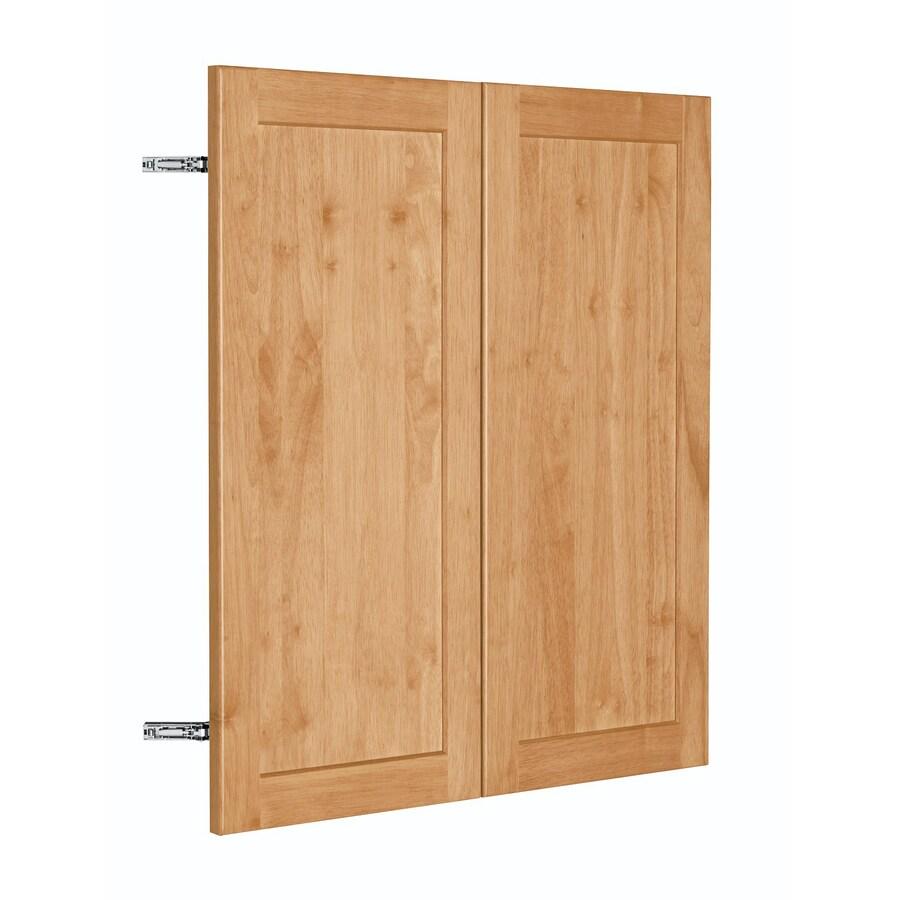 Nimble by Diamond Copper Pot 29.875-in W x 29.906-in H x 0.75-in D Honey Shaker Door Wall Cabinet