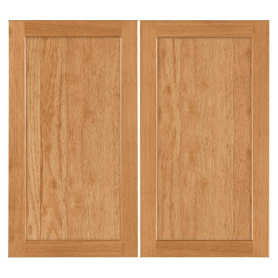 Nimble by Diamond Copper Pot 16.375-in W x 29.9062-in H x 0.75-in D Honey Shaker Door Wall Cabinet