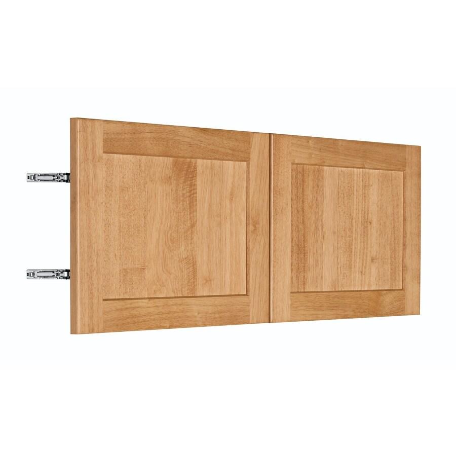 Nimble by Diamond Copper Pot 35.875-in W x 13.9062-in H x 0.75-in D Honey Shaker Door Wall Cabinet