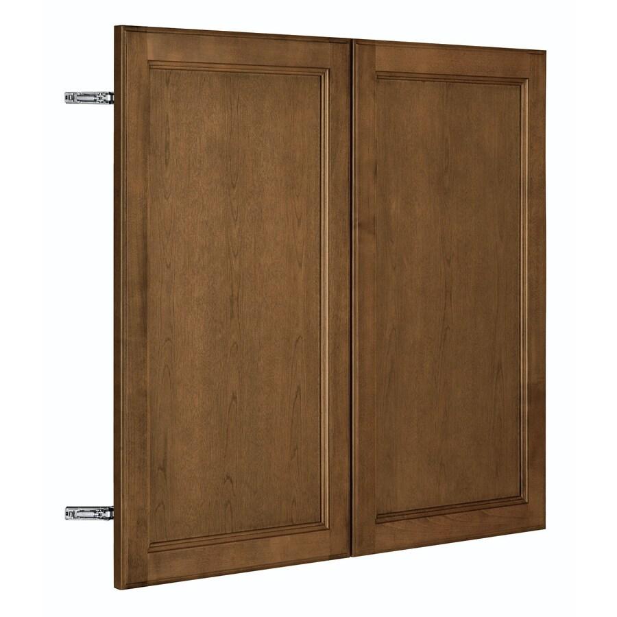 Nimble by Diamond Mocha Swirl 35.875-in W x 29.906-in H x 0.75-in D Mocha Birch Door Wall Cabinet