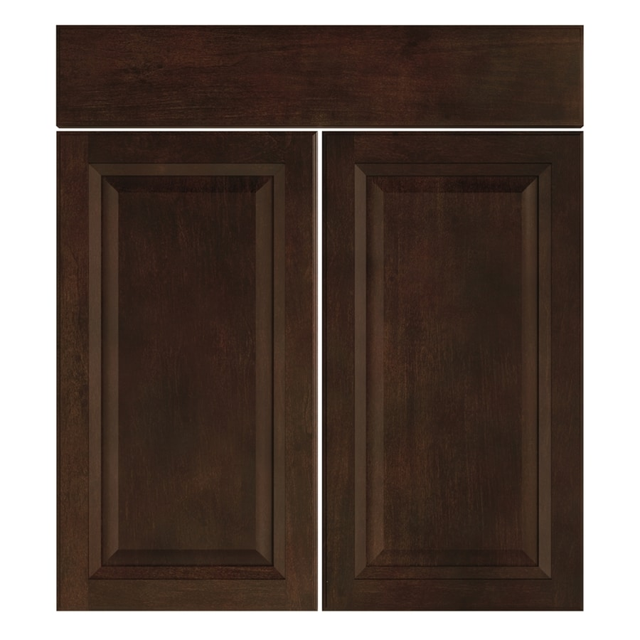 Nimble by Diamond Balsamic Barrel 16.375-in W x 23.9062-in H x 0.75-in D Umber Sink Base Cabinet