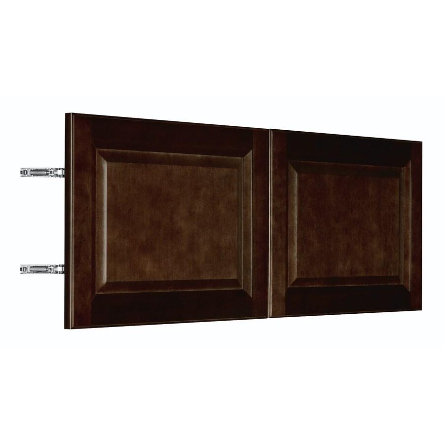 Nimble by Diamond Balsamic Barrel 35.875-in W x 13.9062-in H x 0.75-in D Umber Birch Door Wall Cabinet