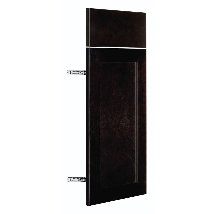 Nimble by Diamond Brownstone Beat 11.875-in W x 23.9062-in H x 0.75-in D Chocolate Shaker Door and Drawer Base Cabinet