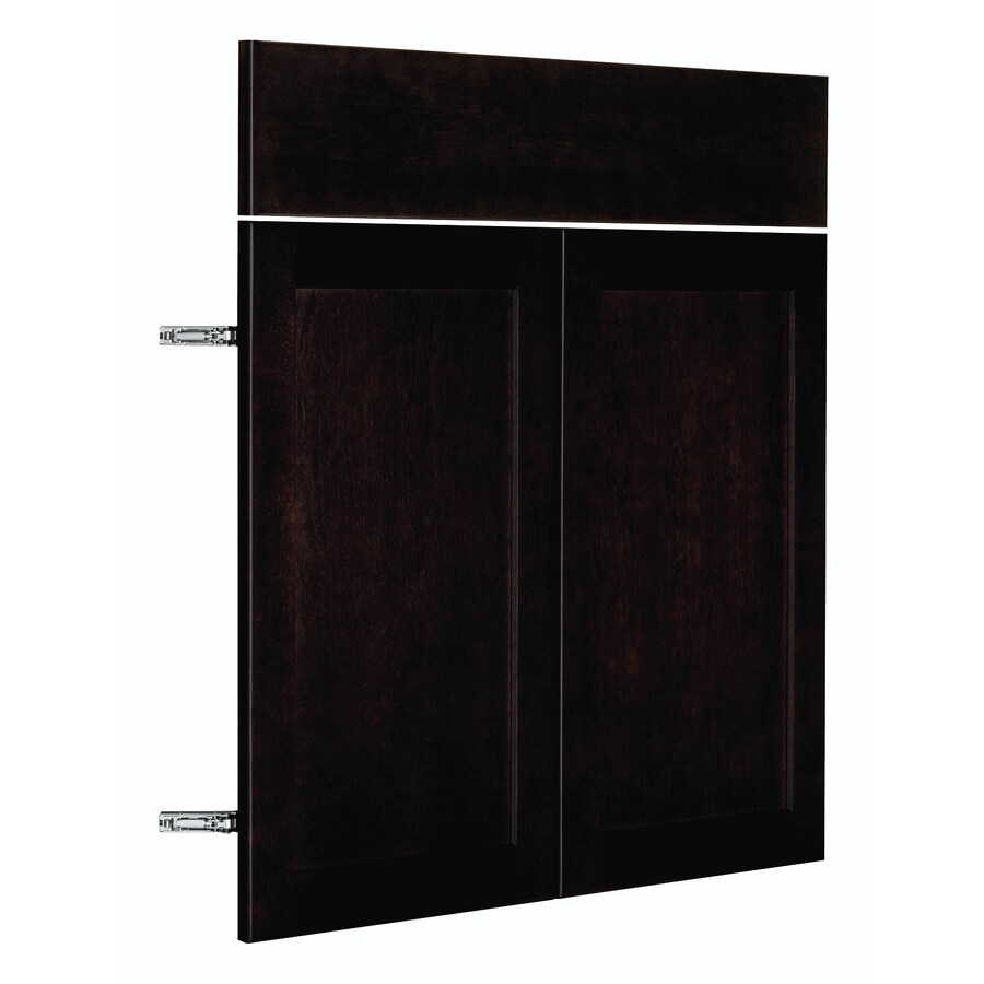 Nimble by Diamond Brownstone Beat 14.875-in W x 23.9062-in H x 0.75-in D Chocolate Shaker Door and Drawer Base Cabinet