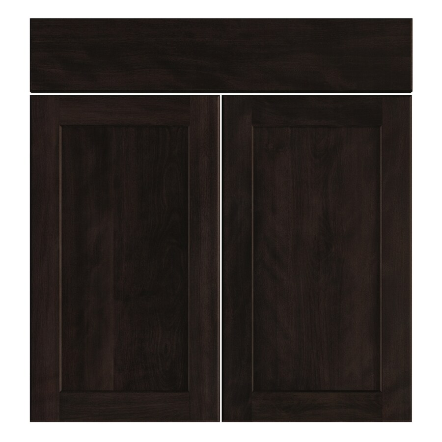 Nimble by Diamond Brownstone Beat 16.375-in W x 23.9062-in H x 0.75-in D Chocolate Shaker Sink Base Cabinet