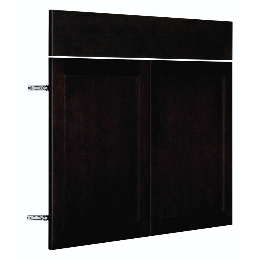 Nimble by Diamond Brownstone Beat 17.875-in W x 23.9062-in H x 0.75-in D Chocolate Shaker Sink Base Cabinet