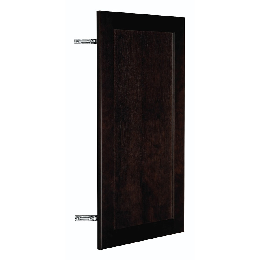 Nimble by Diamond Brownstone Beat 14.875-in W x 29.906-in H x 0.75-in D Chocolate Birch Shaker Door Wall Cabinet