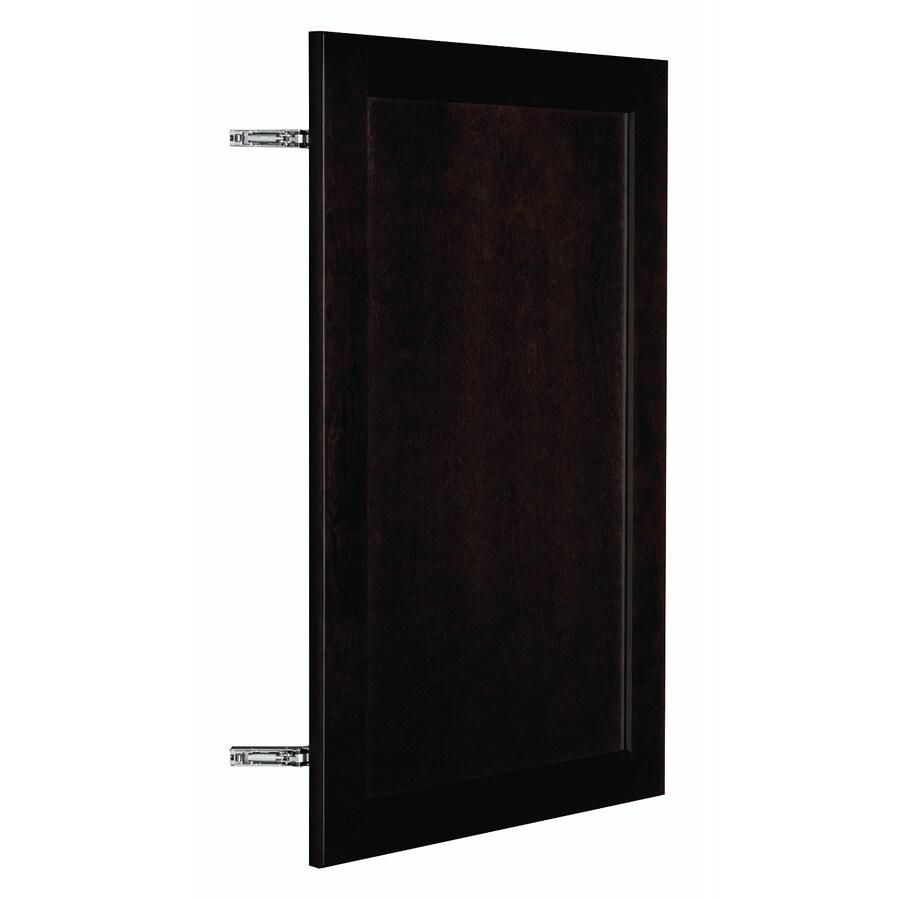 Nimble by Diamond Brownstone Beat 17.875-in W x 29.906-in H x 0.75-in D Chocolate Birch Shaker Door Wall Cabinet