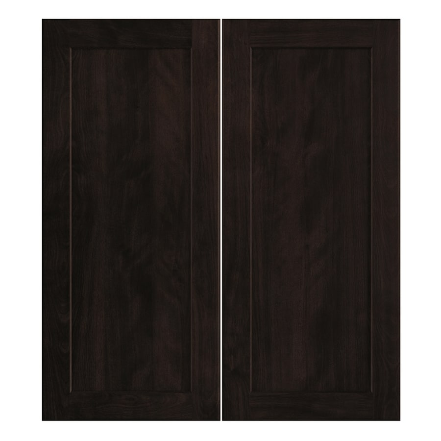 Nimble by Diamond Brownstone Beat 13.375-in W x 29.9062-in H x 0.75-in D Chocolate Shaker Door Wall Cabinet